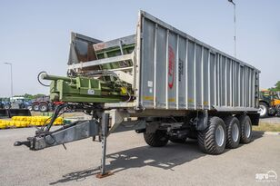 FLIEGL ASW 393 Tridem push off trailer, 2 steered axles, 29.000 kg, sus dump trailer