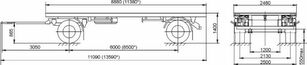 new MAZ 892600-1025-000Р1 flatbed trailer