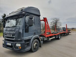 IVECO Eurocargo 140E28 car transporter + car transporter trailer