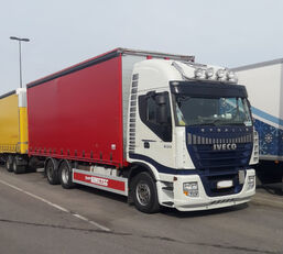 IVECO Stralis AS260S500  6x2 curtainsider truck