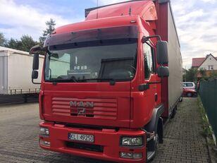 MAN TGL 8.240 curtainsider truck + curtain side trailer