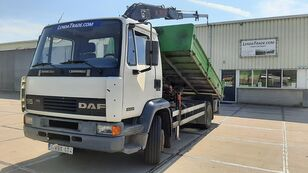 DAF 55.180 Ti  6 Cylinders Euro 2 / HIAB 650 Rotator x 4 dump truck