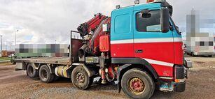 VOLVO FH12 460 8x2 *manual *Fassi 660XP + jib flatbed truck