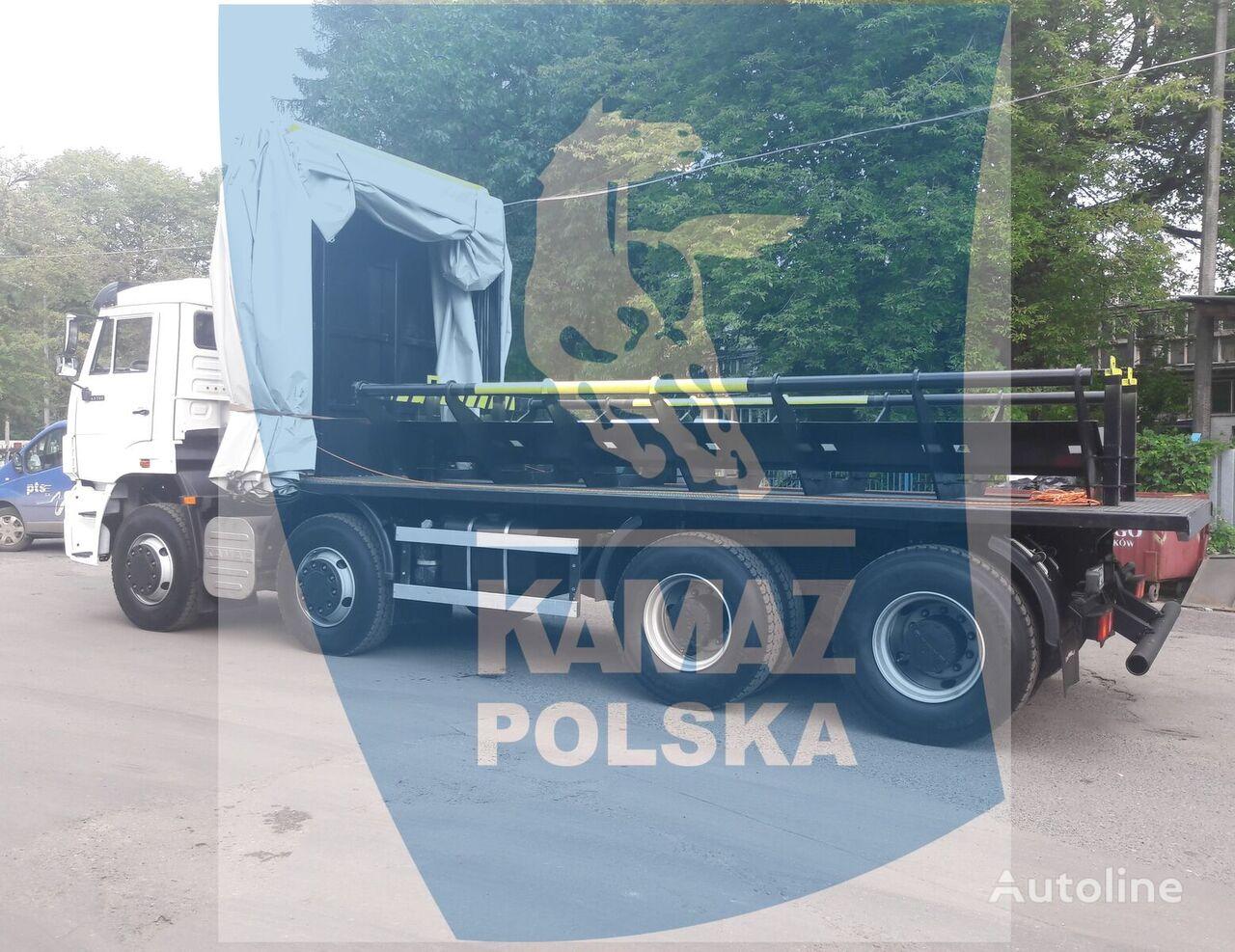 new KAMAZ 8x4 do transportu kręgów stalowych platform truck
