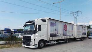 VOLVO fh 420 EURO 6 tilt truck + tilt trailer